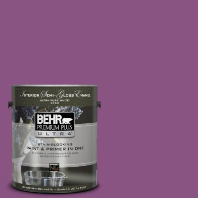 BEHR Premium Plus Ultra Home Decorators Collection 1-gal. #HDC-MD-07 Dynamic Magenta Semi-Gloss Enamel Interior Paint