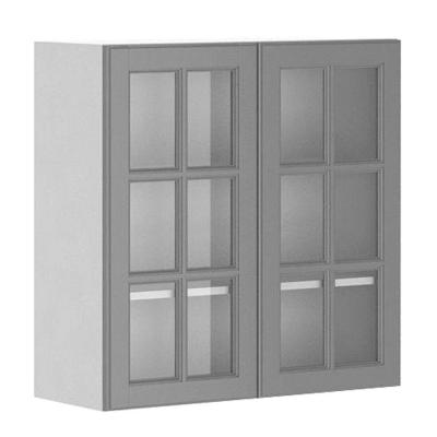 Fabritec 30x30x12 5 In Buckingham Wall Cabinet In White Melamine And Glass D