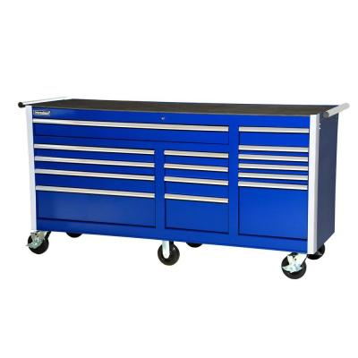 75 in. Tech Series 15-Drawer Cabinet, Blue