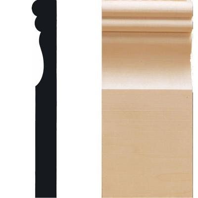 House of Fara 1 in. x 3-1/2 in. x 7-7/8 in. Hardwood Victorian Plinth Moulding