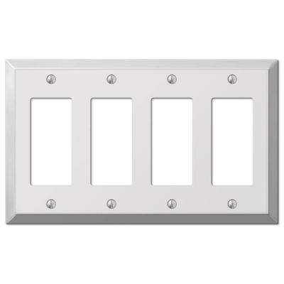 Steel 4 Decora Wall Plate - Chrome Product Photo