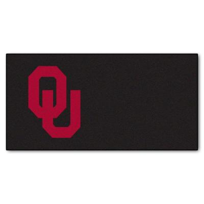 FANMATS NCAA - University of Oklahoma Black and Maroon Nylon 18 in. x 18 in. Carpet Tile (20 Tiles/Case)