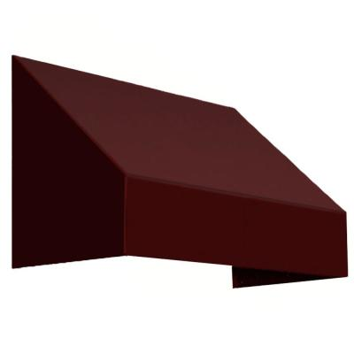 3 ft. New Yorker Awning (31 in. H x 24 in. D) in Burgundy Product Photo