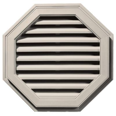 27 in. Octagon Gable Vent in Almond Product Photo