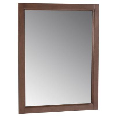 Home Decorators Collection Abbey 31-4/9 in. L x 26 in. W Framed Wall Mirror in Toffee-DISCONTINUED