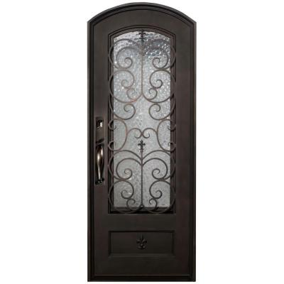 Iron doors unlimited orleans classic 3 4 lite painted oil rubbed bronze decorative wrought iron - Iron security doors home depot ...