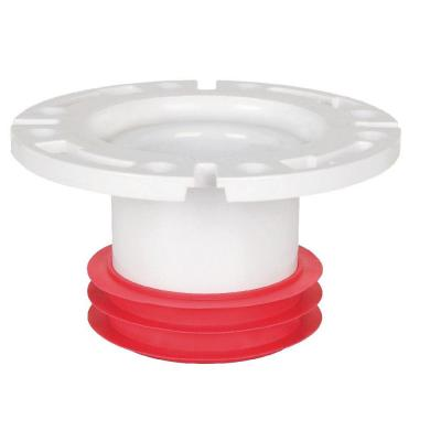 null 4 in. PVC DWV Gasket Closet Flange