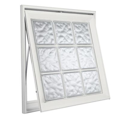Hy lite acrylic block awning vinyl window 8aw3737whlh1w for Plastic glass block windows