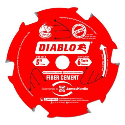 Diablo 5 in. x 6 Tooth Fiber Cement Saw Blade