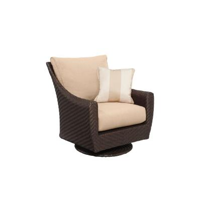 Highland Patio Motion Lounge Chair in Harvest with Regency Wren Throw