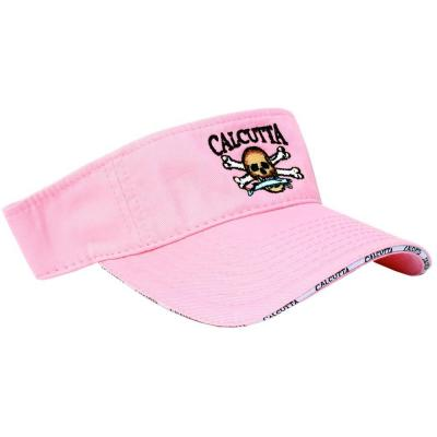 Adjustable Strap Low Profile Visor in Pink with Fade-Resistant Logo