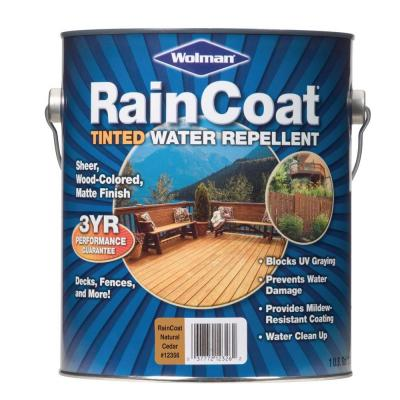 RainCoat Natural Cedar 1-gal. Water-Based with Modified Oils Water Repellent-DISCONTINUED