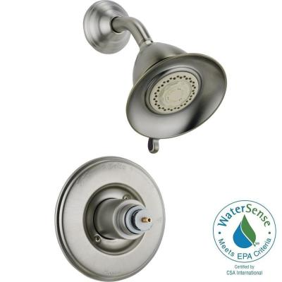 Delta Victorian 1-Handle 3-Spray Shower Faucet Trim Kit in Stainless (Valve and Handles Not Included)