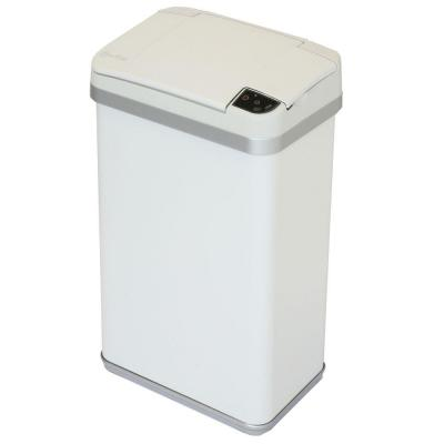 4 Gal. Matte Pearl White Touchless Multifunction Sensor Trash Can with