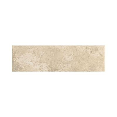 Stratford Place Alabaster Sands 3 in. x 12 in. Ceramic Bullnose Wall Tile Product Photo