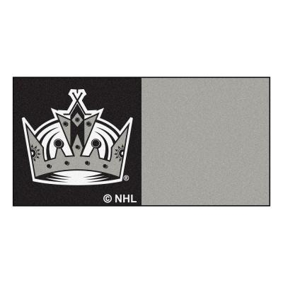 FANMATS NHL - Los Angeles Kings Black and Gray Pattern 18 in. x 18 in. Carpet Tile (20 Tiles/Case)