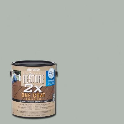 1 gal. 2X Cape Cod Gray Solid Deck Stain with NeverWet