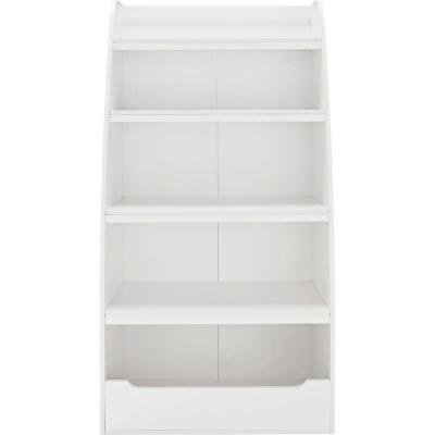 Mia Kids 4-Shelf Bookcase in White Product Photo