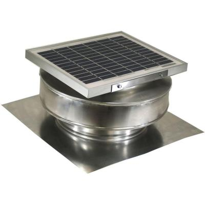 365 CFM Mill Finish 5 Watt Solar Powered Roof Mounted Exhaust
