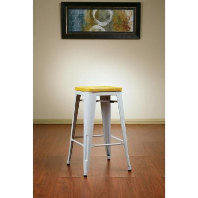Work Smart Bristow 26 in. White Bar Stool (Set of 4)