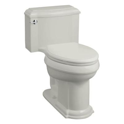 KOHLER Devonshire Comfort Height 1-Piece 1.6 GPF Elongated Toilet in Ice Grey-DISCONTINUED
