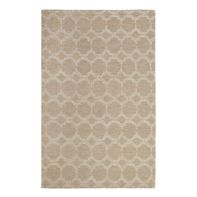 Melanie Taupe and White 8 ft. x 10 ft. Area Rug