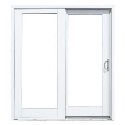 60 in. x 80 in. Composite Right-Hand Sliding Patio Door with Smooth Interior Product Photo