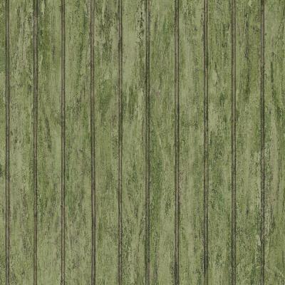 The Wallpaper Company 8 in. x 10 in. Green Bead Board Wallpaper Sample-DISCONTINUED
