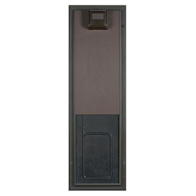 12.75 in. x 20 in. Large Bronze Door Mount Electronic Dog Door Product Photo