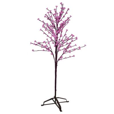 Sterling 6.5 ft. LED Artificial Blossom Christmas Tree with Pink Lights 92411029