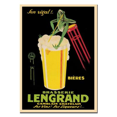 null 18 in. x 24 in. Bieres Brasserie Lengrand by G.Piana Canvas Art