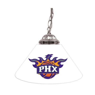 Phoenix Suns NBA 14 in. Single Shade Stainless Steel Hanging Lamp
