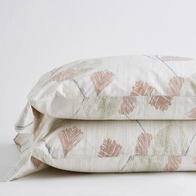 Pressed Leaves 300-Thread Count Organic Cotton Percale Pillowcase (Set of 2)