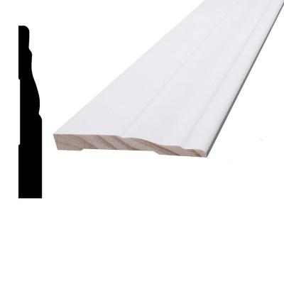 7/16 in. x 3-1/4 in. x 96 in. Primed Pine Finger-Jointed Base Moulding Product Photo