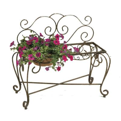 Deer Park 33 in. L x 15 in. D x 29 in. H Bench Planter (2-Pot)