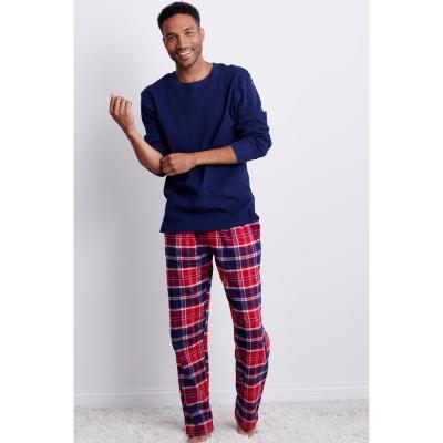 Family Flannel Men's Whitaker Plaid 2-Piece Thermal Pajama Set