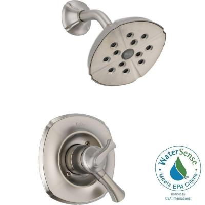 Delta Addison 1-Handle H2Okinetic Shower Only Faucet Trim Kit in Stainless (Valve Not Included)