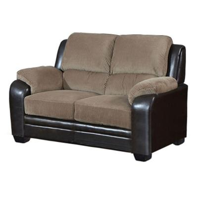 Barton Loveseat in Saddle Brown Corduroy and Espresso Product Photo