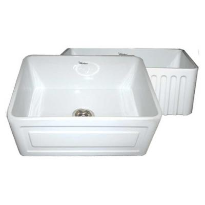 Raised Sink Bowls : ... Raised Panel Farmhaus Series Apron Front Fireclay 24 in. Single Bowl