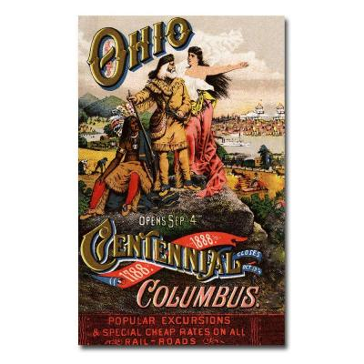 Trademark Fine Art 22 in. x 32 in. Ohio Central Exposition 1888 Canvas Art