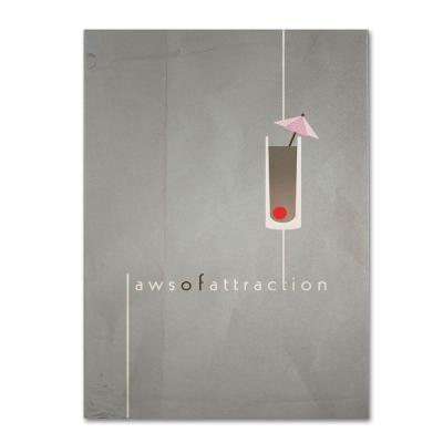16 in. x 24 in. Laws of Attraction Canvas Art
