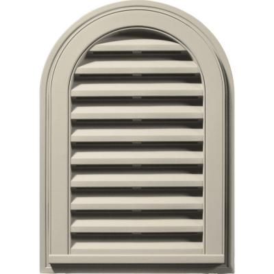 14 in. x 22 in. Round Top Gable Vent #089 Champagne Product Photo