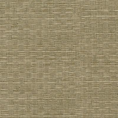 60.8 sq. ft. Light Brown Woven Texture Wallpaper Product Photo