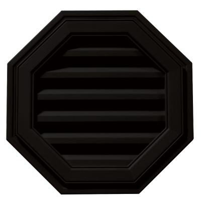 18 in. Octagon Gable Vent #002 Black Product Photo