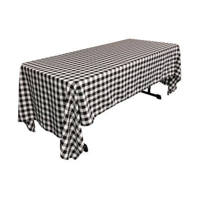 60 in. x 144 in. Polyester Gingham Checkered Rectangular Tablecloth