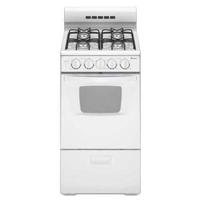 Amana 20 in. 2.6 cu. ft. Gas Range in White