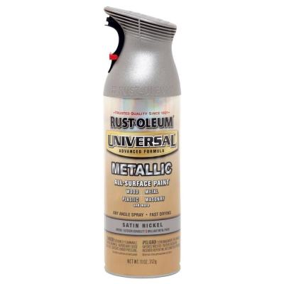 11 oz. All Surface Metallic Satin Nickel Spray Paint and Primer