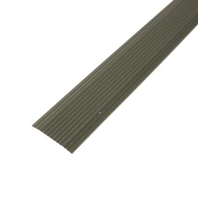 Cinch 1.25 in. x 36 in. Satin Nickel Fluted Seam Cover Transition Strip Product Photo