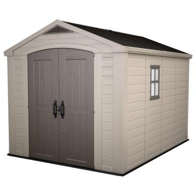 keter factor 8 ft x 11 ft plastic outdoor storage shed On cabanon canadian tire