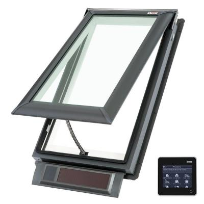 21 x 45-3/4 in. Solar Powered Fresh Air Venting Deck-Mount Skylight with Laminated LowE3 Glass Product Photo